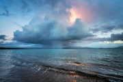 Dramatic weather and cloud formations over Snowdonia & the Isle of Anglesey during winter conditions