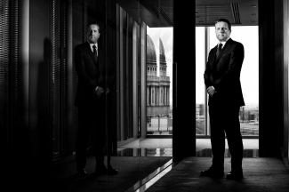 London lawyer portrait for a US magazine