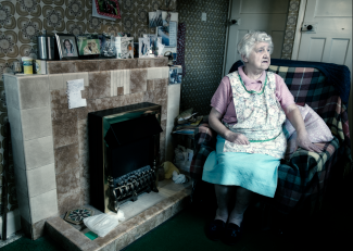 Margaret has no TV, phone or internet. Watches the world go by through her window