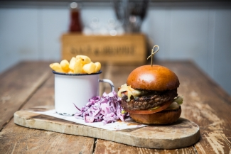 Burger at the Lighthouse for Food & Drink guide'19