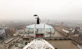 Mary Poppins on top of London Eye
